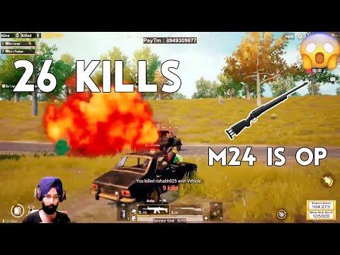 Insane 26 Kills Chicken Dinner M24 Power ft. Pratham