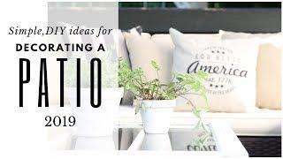 Patio Ideas ~ Patio Makeover ~ Deck Decorating Ideas ~ Farmhouse Style Porch
