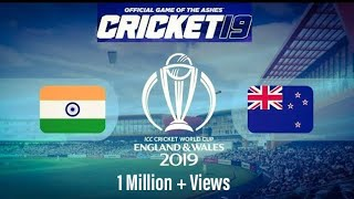 India vs New Zealand World Cup 2019 Semi Final Highlights (Cricket 19 Game)
