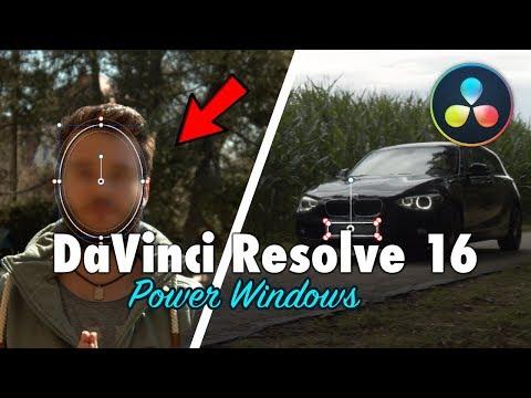 Objekte/Gesichter verpixeln & Power Windows Tracken | DaVinci Resolve 16 Tutorial Deutsch