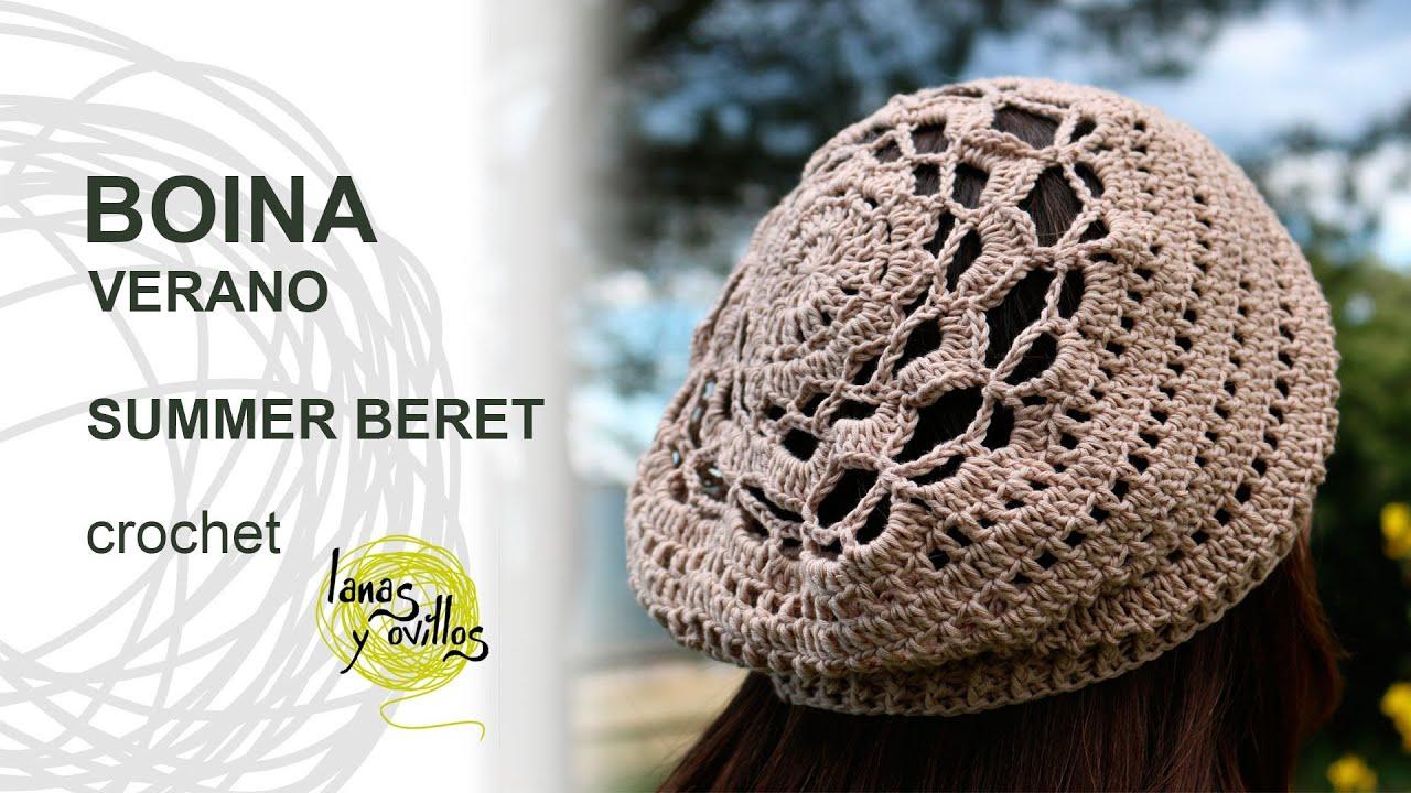 Tutorial Boina Crochet o Ganchillo Beret (with chart) - YouTube