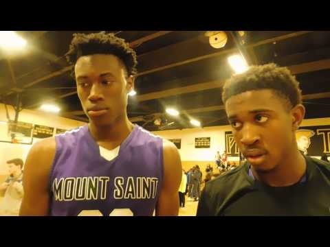 Mount St. Joseph basketball Jalen Smith and Darryl Morsell 01/15/17
