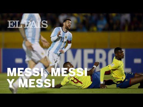 Ecuador-Argentina, Messi fue tres veces Messi   Deportes
