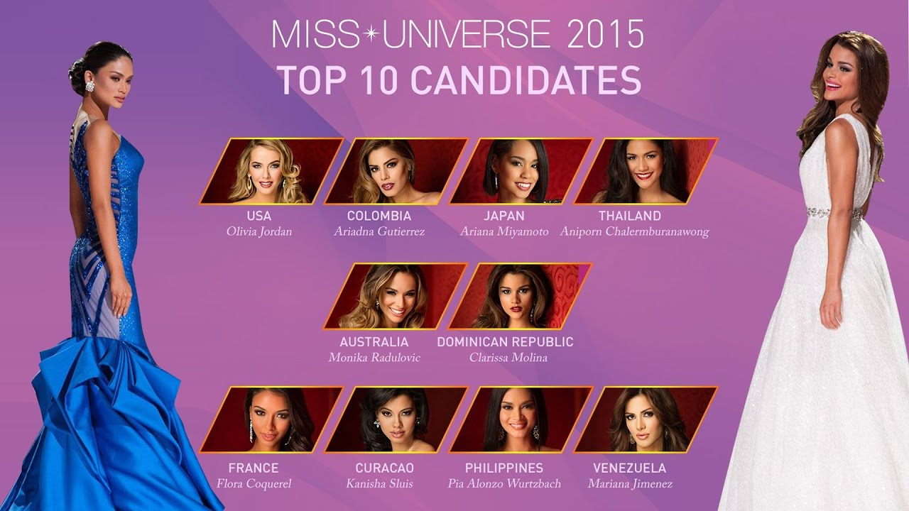 Miss Universe 2015 - Evening gown Highlights - YouTube