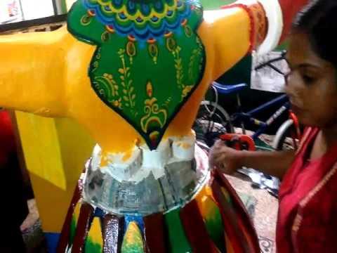 Tulika Art school present Puja Theme:Apur Panchali by Biplab Dev, Kestopur