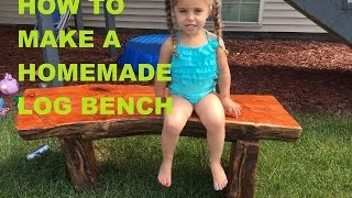 How To Make A Homemade Bench From A Old Tree Stump And A Chainsaw Sculpture