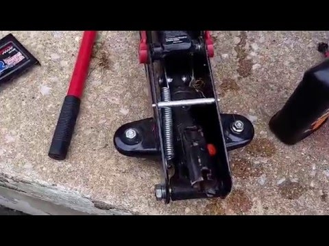 How to add or change Hydraulic fluid on Floor Jack