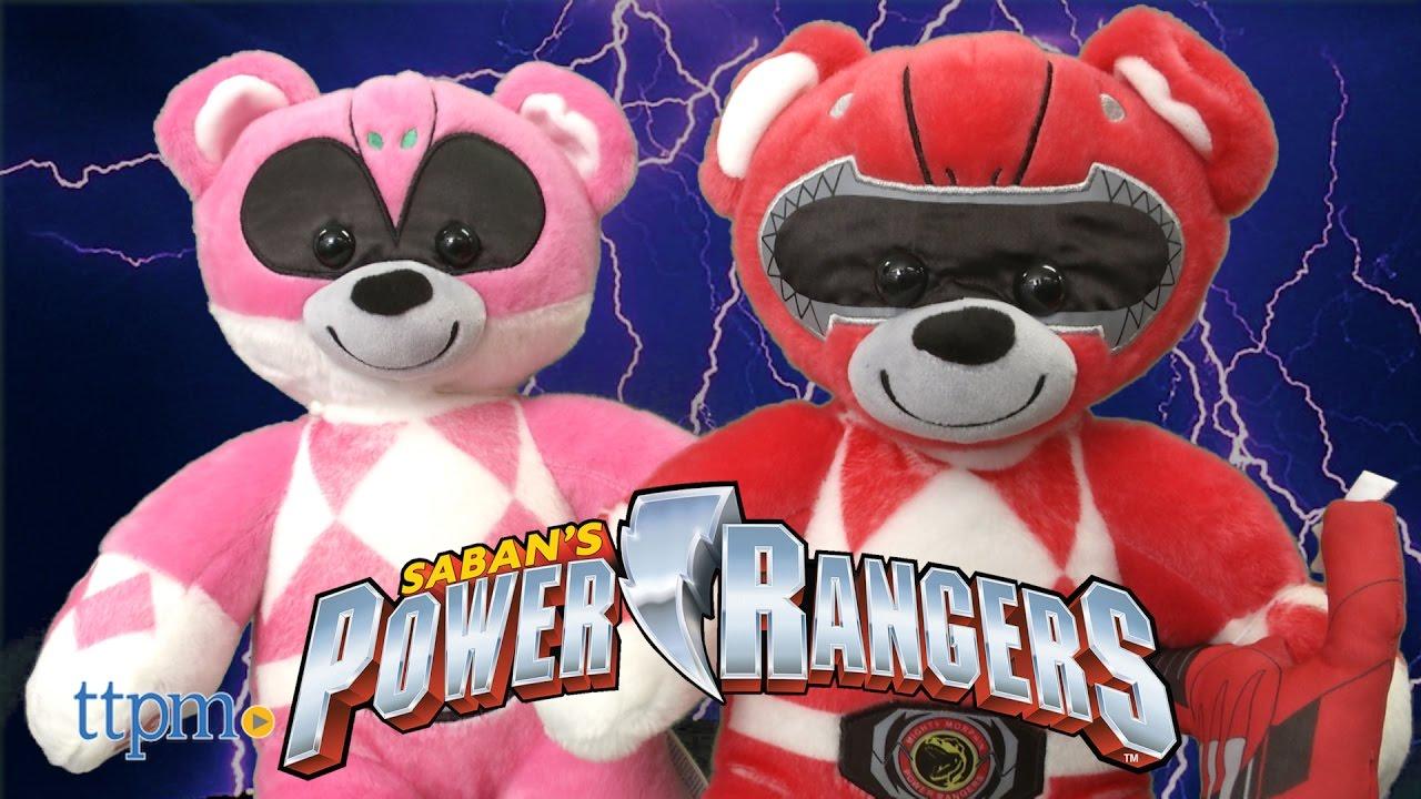 power rangers pink amp red ranger bear from buildabear