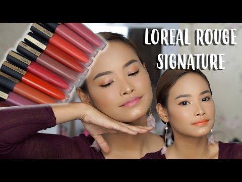 loreal-rouge-signature-swatch-&-review-|-amyra-irzanti