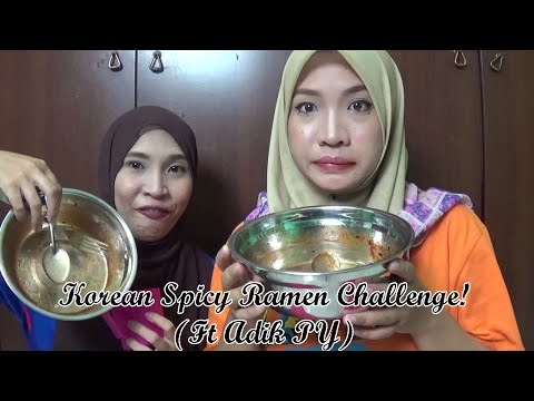 Spicy Korean Ramen Challenge! (ft Adik PY)