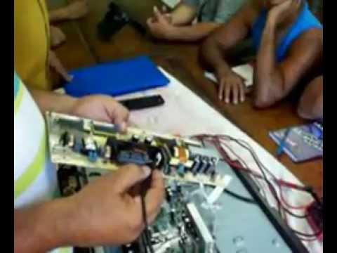 Como consertar placa da fonte de TV LCD Semp que não liga. Análise passo a passo!