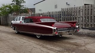 1960 Cadillac Eldorado Biarritz Convertible in Red & Engine Sound on My Car Story with Lou Costabile