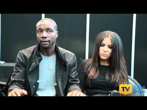 Rob Brown (Edgar Reade) & Audrey Esparza (Tasha Zapata) from Blindspot NYCC 2015 Interview