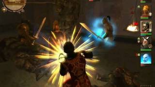 Drakensang : The Dark Eye (Gameplay) Gollems Fight
