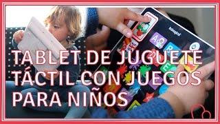 Tablet táctil con juegos para niños