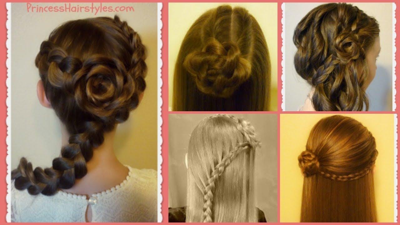 flower girl hairstyles! 5 braided rose hairstyles, part 2