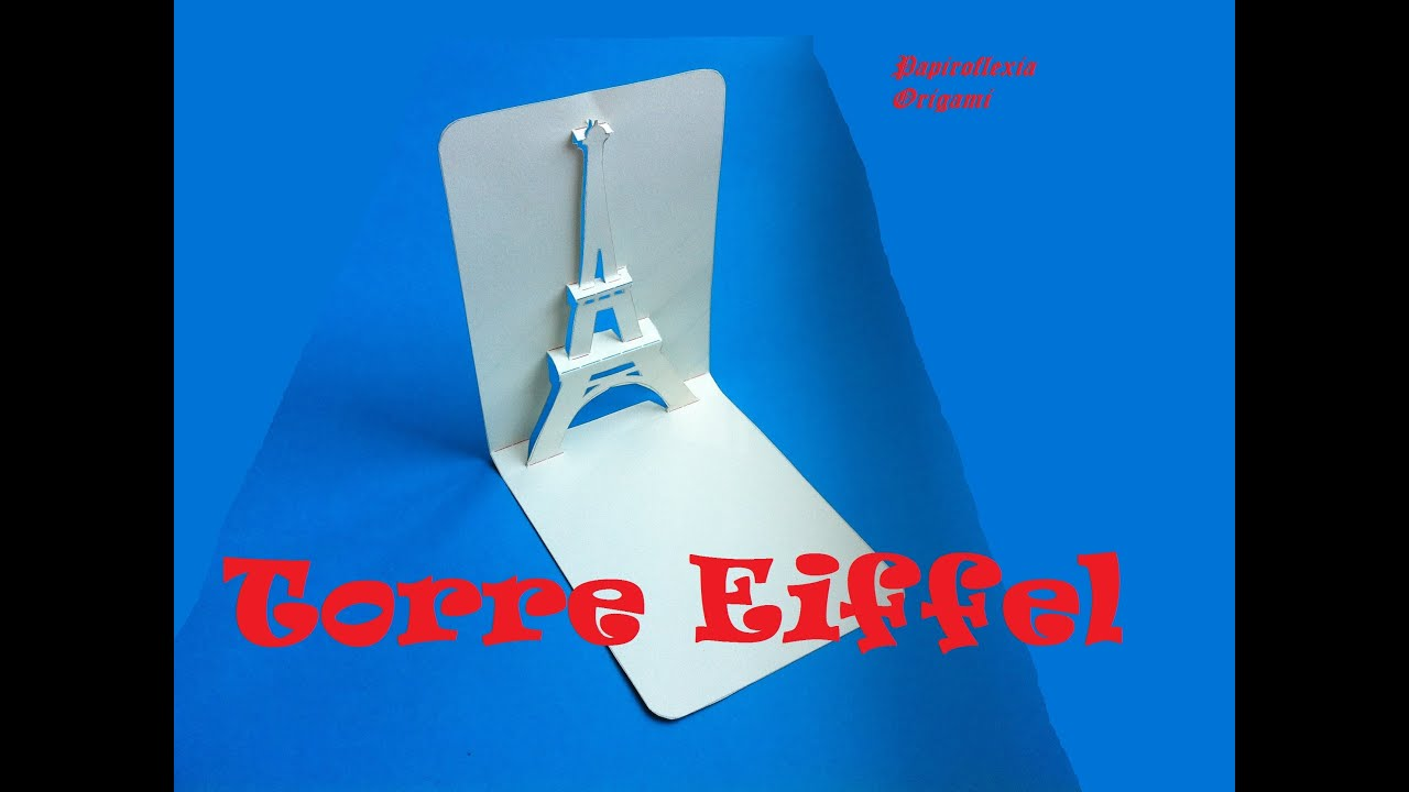 Pop Up. Manualidades. Torre Eiffel tarjeta, Card 3D. - YouTube