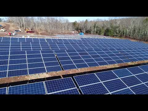 A new solar farm being constructed in Callicoon