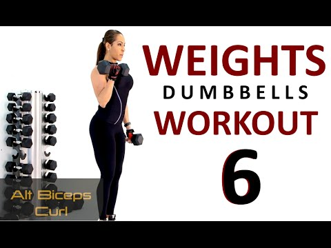 FULL BODY WEIGHTS WORKOUT no.6 with dumbbells. Train Along, Weight Training, Coach Ali