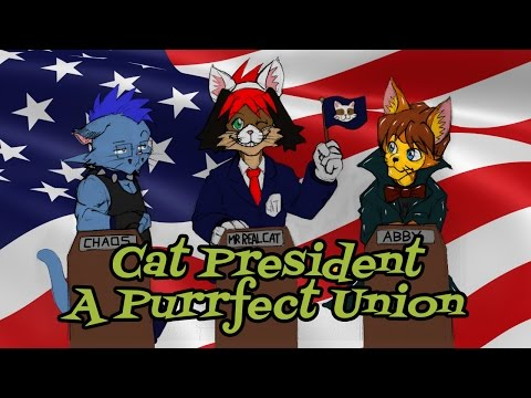 A Puppy Plays: Cat President A More Purrfect Union Visual Novel