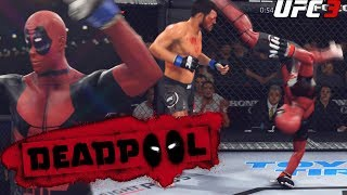 Deadpool Is Cartwheel Kicking Everyone Trolling The UFC EA Sports UFC 3 Gameplay
