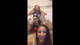 Tecia Torres + Amanda Nunes + Nina Ansaroff - Periscope - (2016.07.19)
