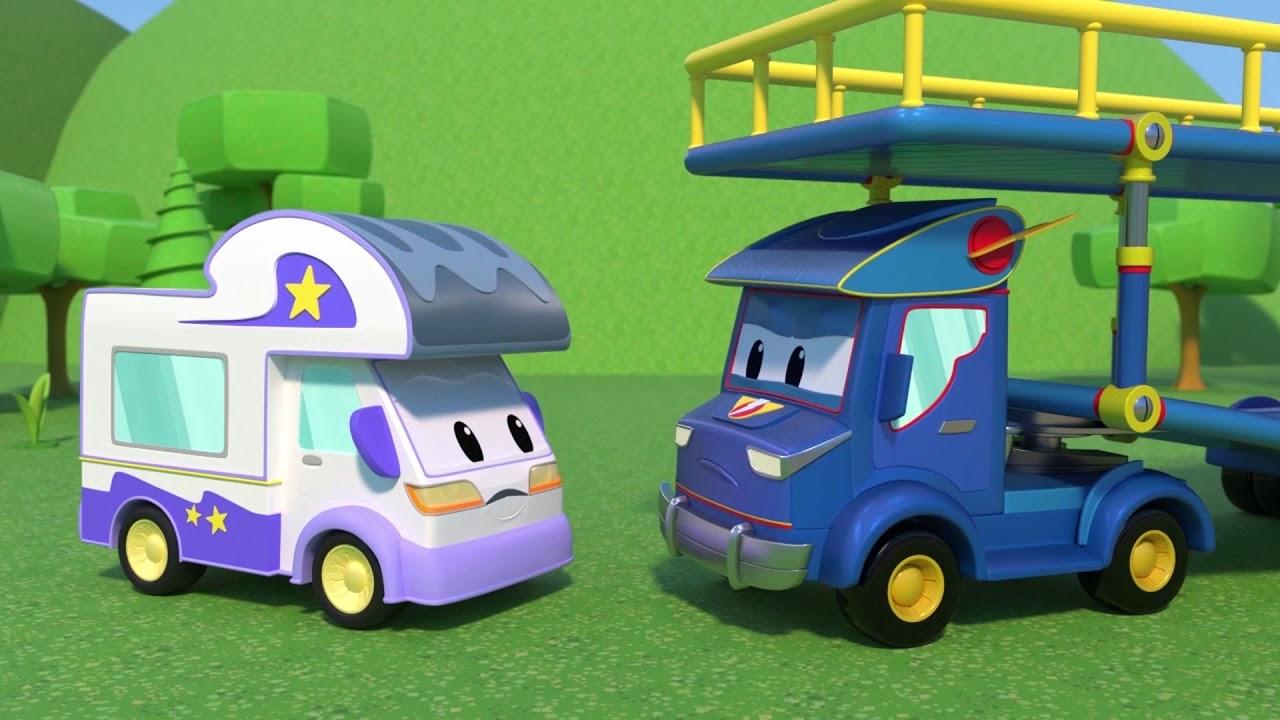 رسوم متحركة للشاحنات للصغار - الشاحنة الخارقة فوضى قصاصات الورق في المزرعة تحتاج تنظيفا رسوم متحركة
