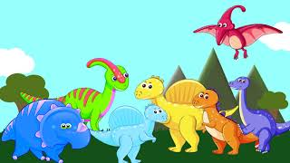Blue Tractor And Dinosaurs Learning Colors In English. Singing Songs With Viltim Kids