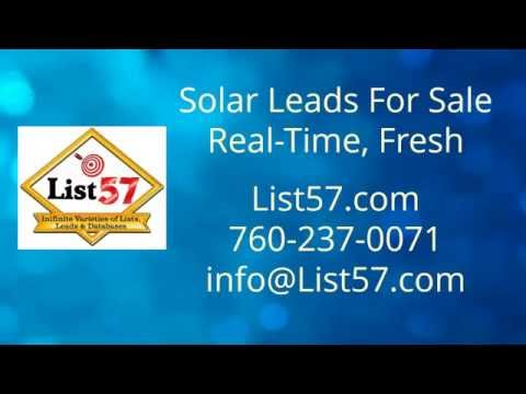 Solar Sales Leads Real Time Fresh Phone Email List57 com