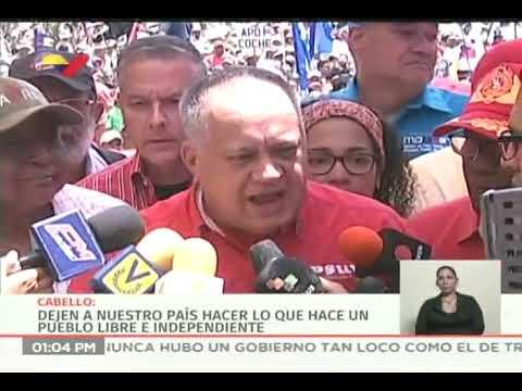 Declaraciones de Diosdado Cabello en la marcha del 1 de mayo de 2019
