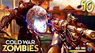 COLD WAR ZOMBIES FIREBASE Z GAMEPLAY - ROUND 50 & WONDER WEAPON UPGRADED!