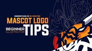 Illustrator: Mascot Logo Design Tips - Beginner MUST KNOWS