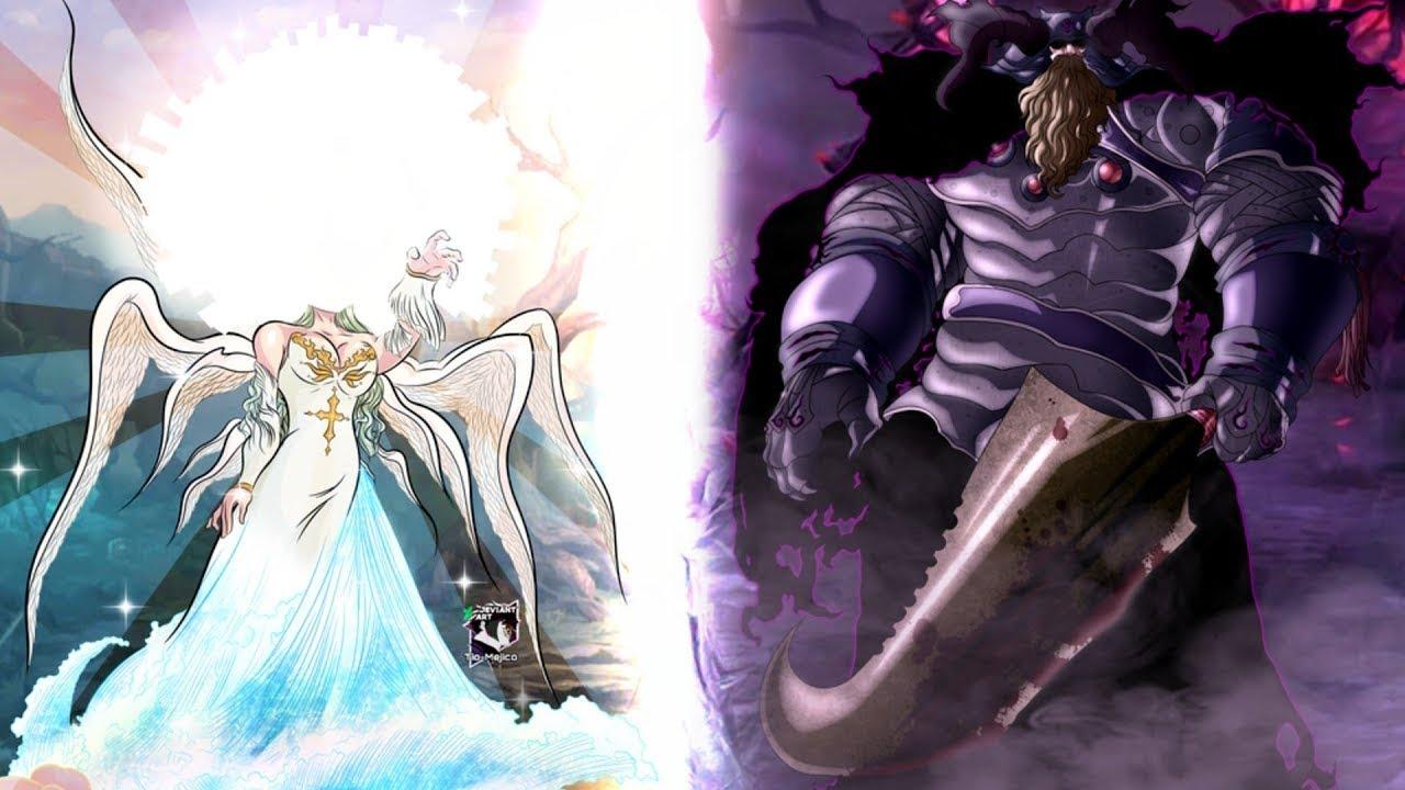 Meliodas y Elizabeth vs Rey Demonio y la Deidad Suprema ...