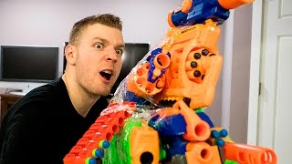NERF WAR: WORLD'S BEST ILLEGAL NERF GUN GAME MASTER MOD EVER (NERF VS BUZZBEE)