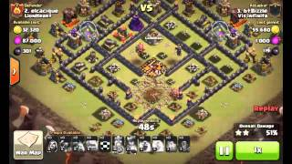 Clash Of Clans - TH10 Gowipe + 4 Earthquake Spells
