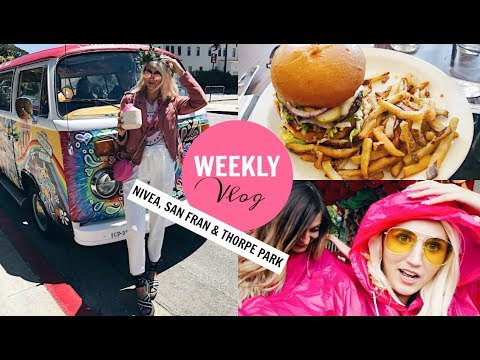 WEEKLY VLOG | NIVEA Event, San Francisco & Thorpe Park!