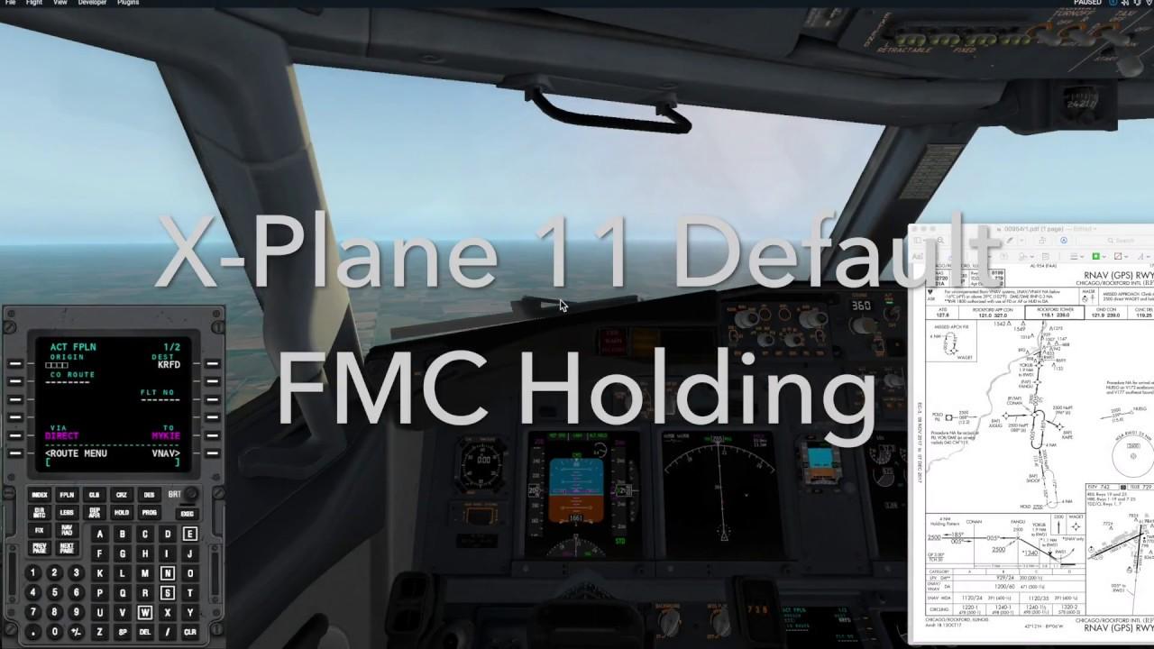 x plane default fmc holding tutorial youtube rh youtube com FMC Tutorial PDF PMDG 737 NGX FMC Manual