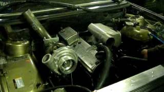 My Bmw 524TD E28 m21d24 engine first start with new turbo