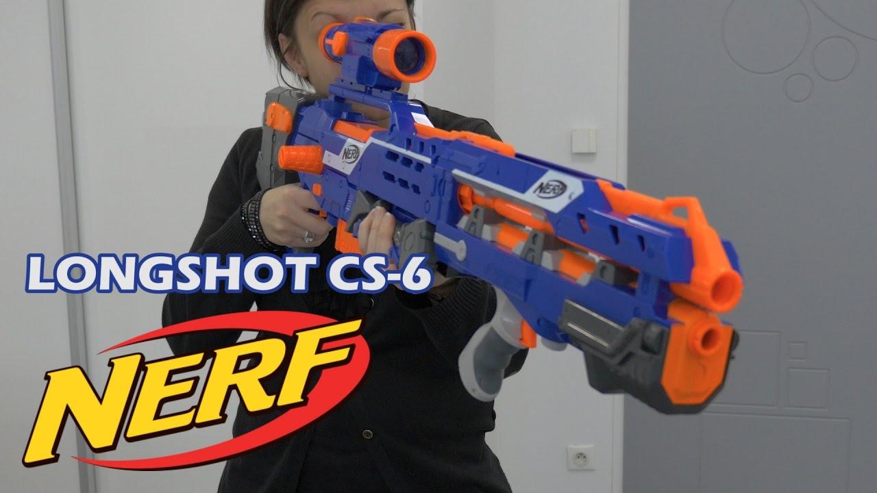 Nerf Sniper Avec Lunette : nerf elite longshot cs 6 d mo du blaster en fran ais ~ Pogadajmy.info Styles, Décorations et Voitures