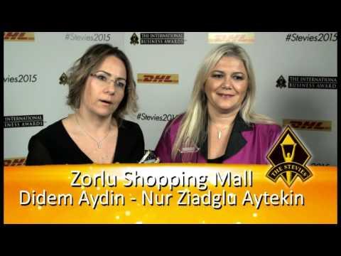 Zorlu Shopping Mall is Stevie Award® winner in 2015 International Business Awards
