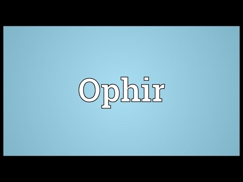 Ophir Meaning