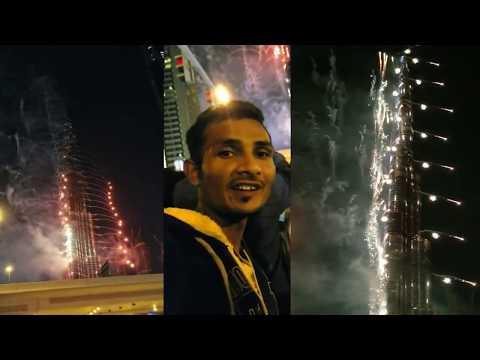 BURJ KHALIFA BURJ AL ARAB NEW YEAR NIGHT FIRE WORK 2020 #2020 #amirtraveller #dubai