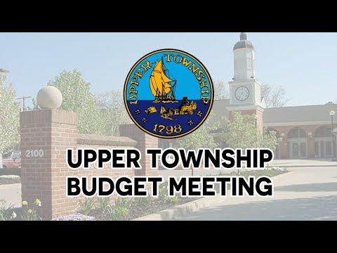 Upper Township Budget Meeting - 2/26/18