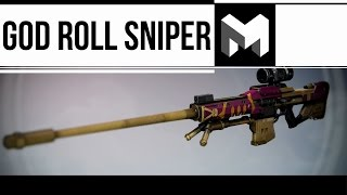 I have the Best Sniper in Destiny: (God Roll)