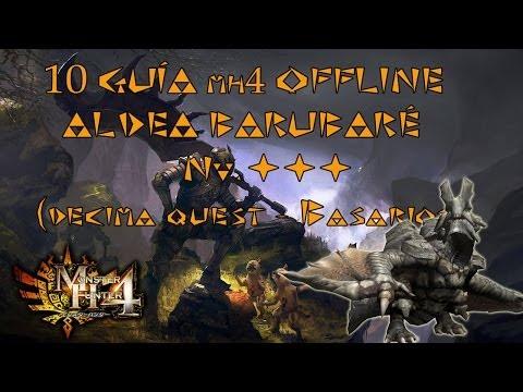 Monster Hunter 4 - Guía Offline en Español MH4 #10 - Aldea Naguri - Nv. ★★★ instrucción: BASARIOS
