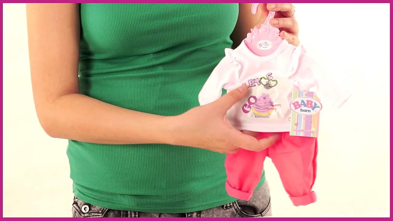 Кукла Беби Борн и одежда с обувью / купаем куклу / Baby Born - YouTube