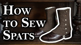 Making a pair of spats - The Bearded Sherlock Project
