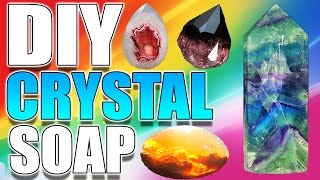 DIY CRYSTAL SOAP!!