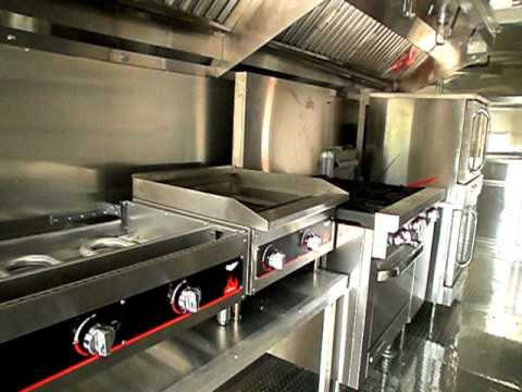 Concession Trailer with Custom Equipment - Fridge, Grill, Grease Hood, Oven