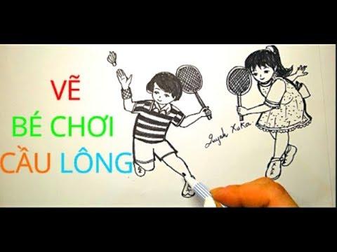 VẼ BÉ CHƠI CẦU LONG ĐƠN GIẢN -DRAW SIMPLE BABY FOR LONG